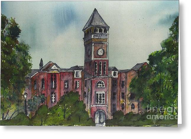 Tillman Hall One Clemson Greeting Card by Patrick Grills