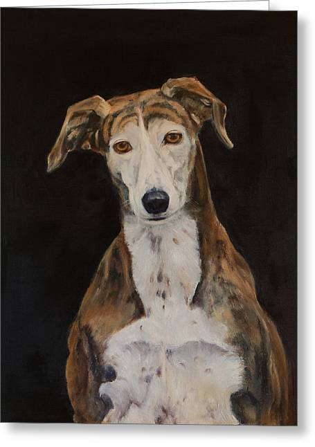 Tilly The Lurcher Greeting Card
