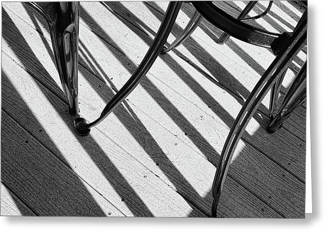 Tilt Black And White Photography Greeting Card by Ann Powell
