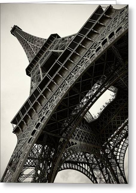 Tilted Eiffel Greeting Card