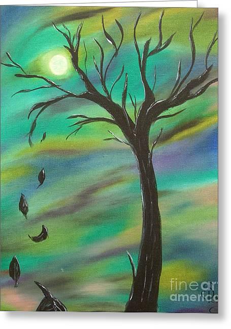 Tim Burton Tree Greeting Card by Sesha Lee