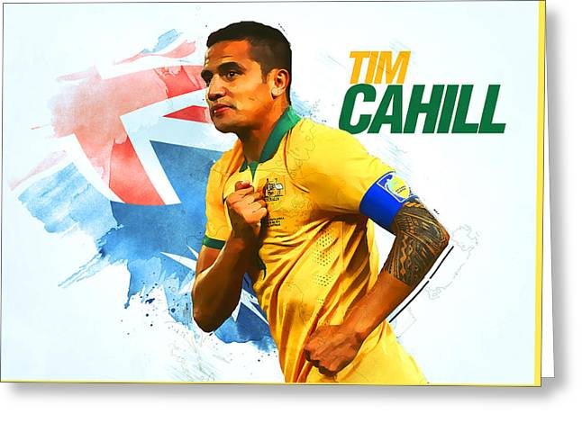 Tim Cahill Greeting Card by Semih Yurdabak