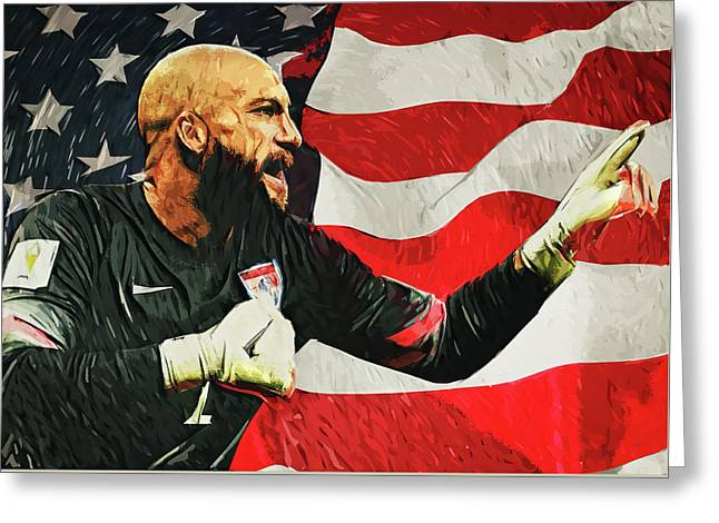 Tim Howard Greeting Card