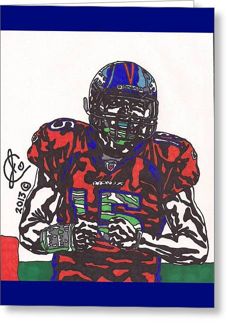 Tim Tebow 3 Greeting Card by Jeremiah Colley