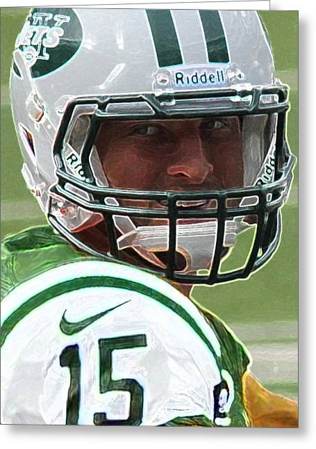 Tim Tebow Art Deco - New York Jets -  Greeting Card