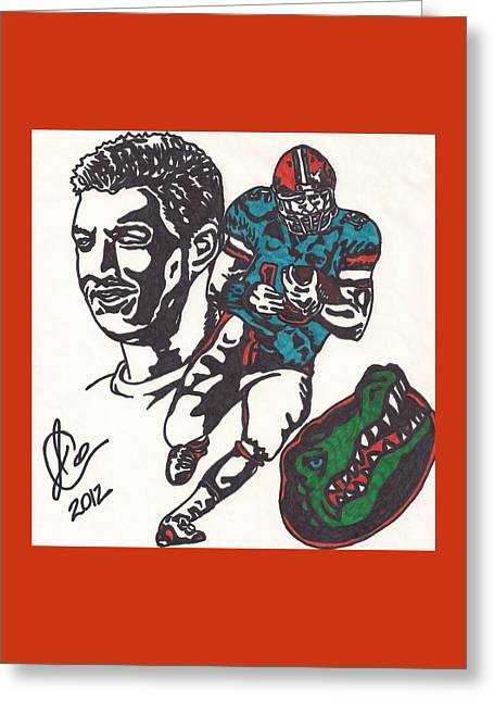 Tim Tebow Gators Greeting Card by Jeremiah Colley