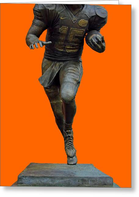 Tim Tebow Transparent For Customization Greeting Card by D Hackett