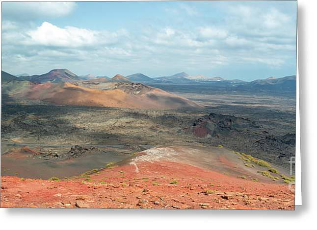 Timanfaya Panorama Greeting Card by Delphimages Photo Creations