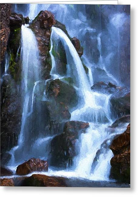 Timberline Falls Greeting Card