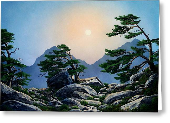 Timberline Greeting Cards - Timberline Guardians Greeting Card by Frank Wilson