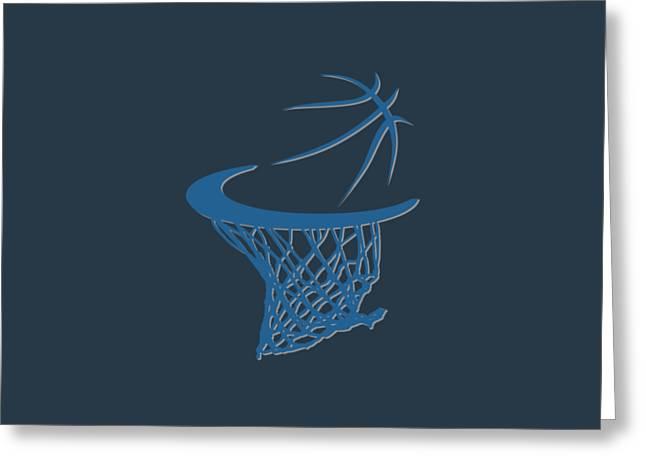 Timberwolves Basketball Hoop Greeting Card by Joe Hamilton
