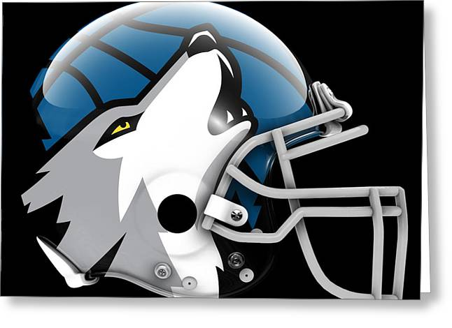 Timberwolves What If Its Football Greeting Card by Joe Hamilton