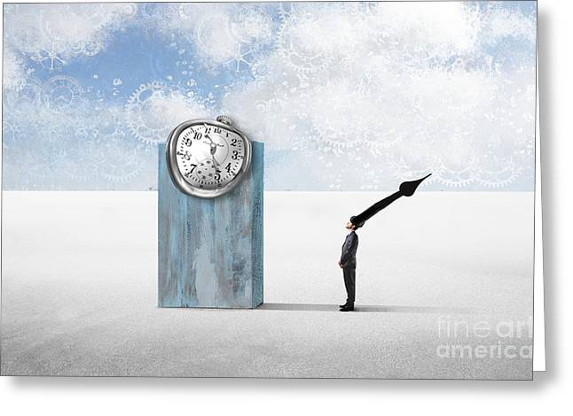 Time  Greeting Card by Aimelle ML