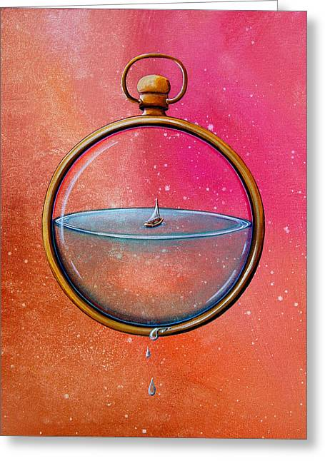 Time And Space Greeting Card by Cindy Thornton