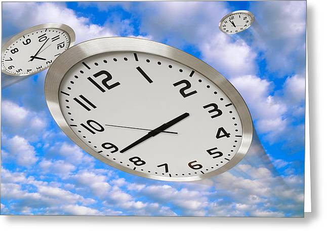 Time Flies Greeting Card by Utah Images
