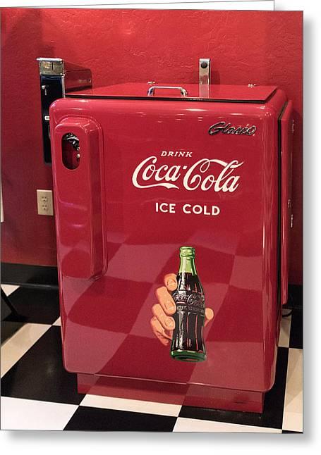 Time For A Break - Coke Greeting Card by Jon Berghoff