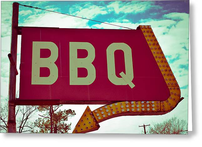 Time For Bbq Greeting Card by Sonja Quintero