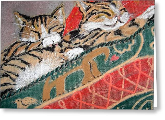Time For Bed Greeting Card by Angela Cartner