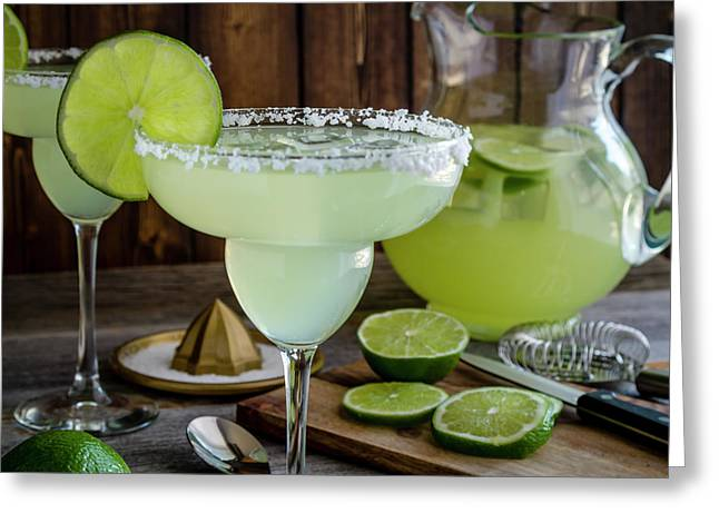 Greeting Card featuring the photograph Time For Margaritas by Teri Virbickis
