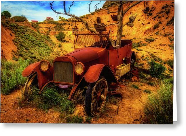 Time Forgotten Rusting Car Greeting Card