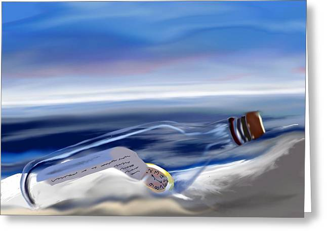Time In A Bottle Greeting Card