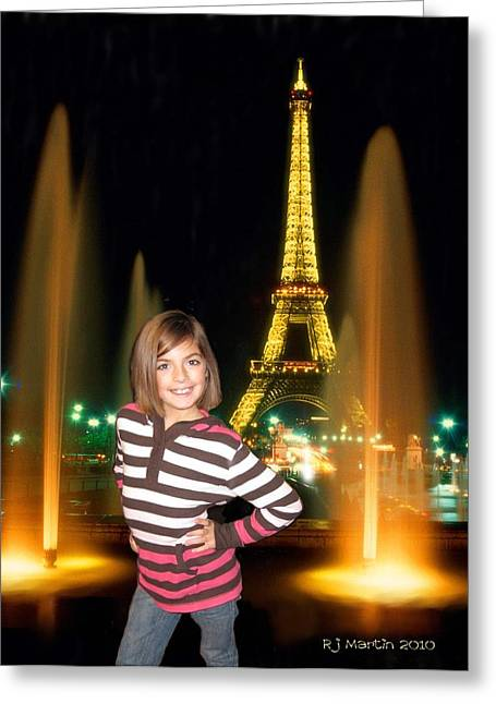 Time In Paris Greeting Card
