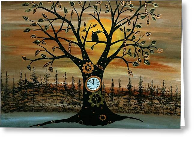 Time Keeper Greeting Card by Rachel Olynuk
