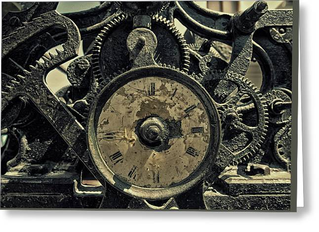 Time Machine Greeting Card by Philip Openshaw