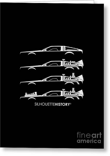 Time Machine Silhouettehistory Greeting Card