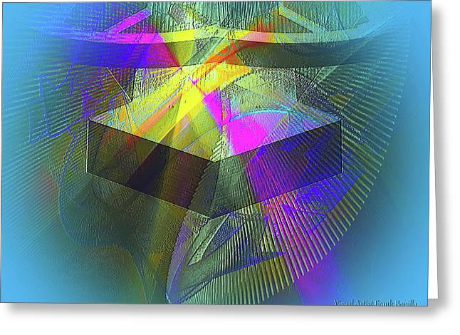 Time Machne Greeting Card by Visual Artist Frank Bonilla