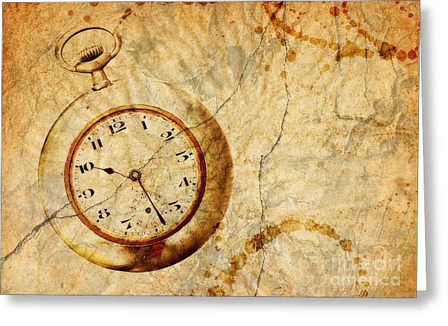 Time Greeting Card by Michal Boubin