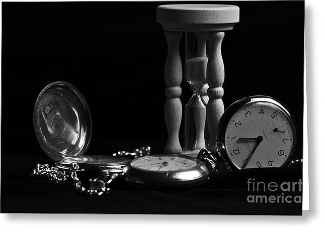Mechanism Greeting Cards - Time on Velvet Greeting Card by Angelo DeVal