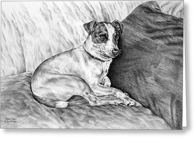 Time Out - Jack Russell Dog Print Greeting Card