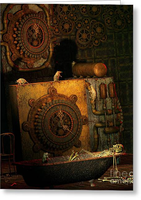 Time Passes Greeting Card by Jutta Maria Pusl