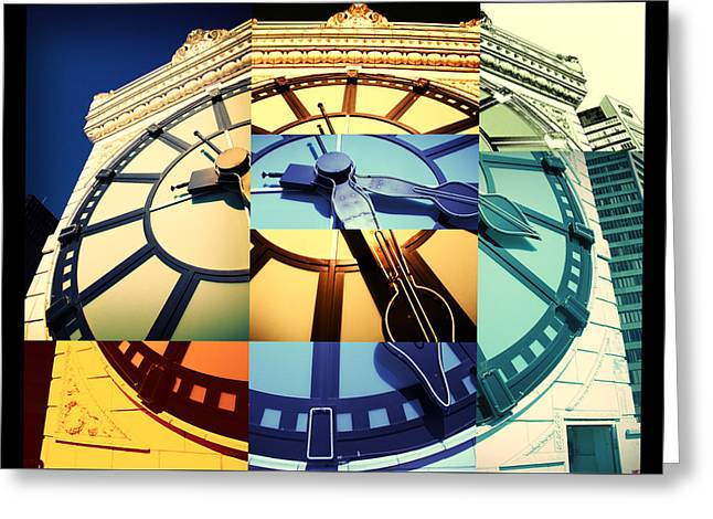 Time Pieces Greeting Card by Julius Reque