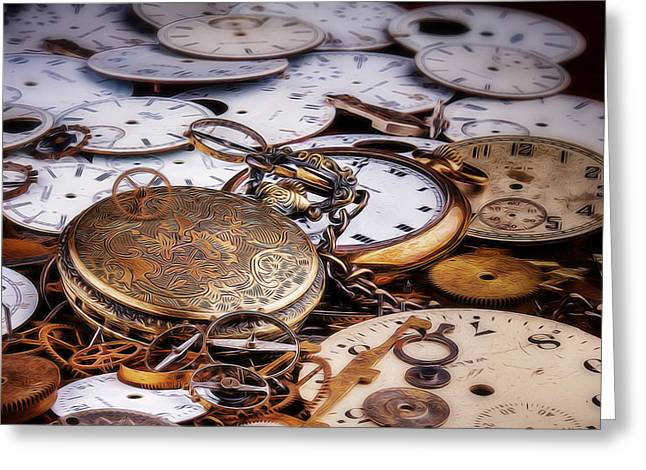 Time Pieces Greeting Card by Tom Mc Nemar