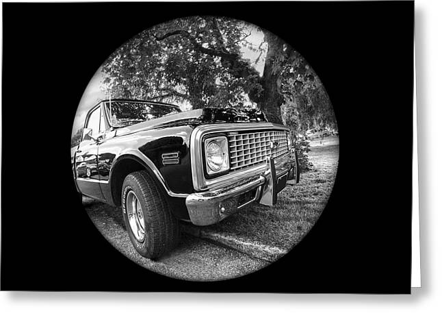 Time Portal - '71 Chevy Greeting Card by Gill Billington