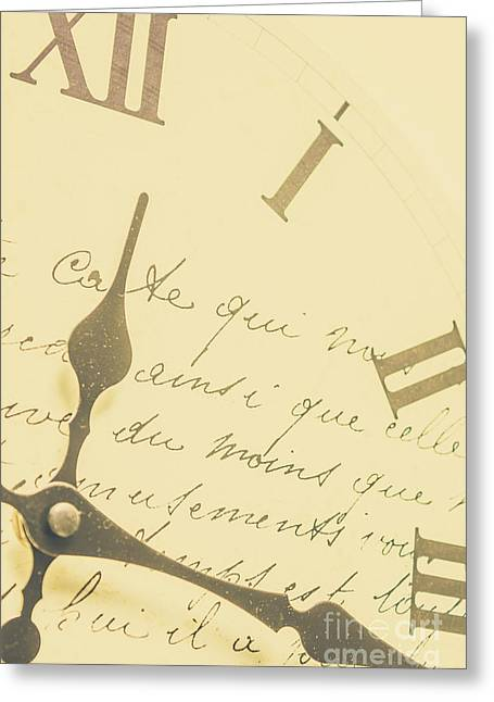 Time Signatures Greeting Card by Jorgo Photography - Wall Art Gallery