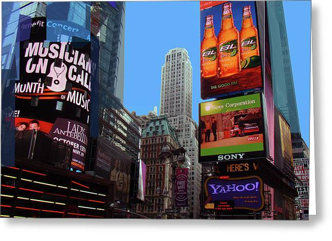 Greeting Card featuring the photograph Times Square 2 by Walter Fahmy