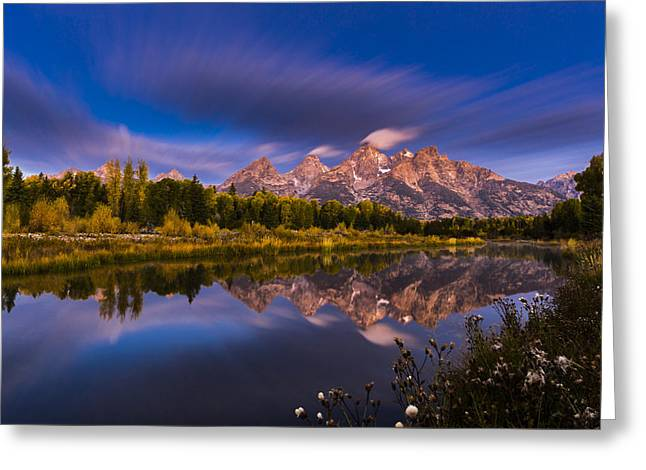 Time Stops Over Tetons Greeting Card by Edgars Erglis