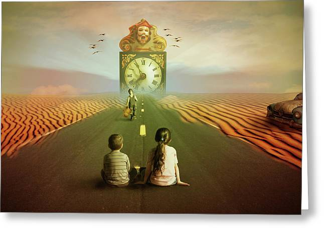 Greeting Card featuring the digital art Time To Grow Up by Nathan Wright