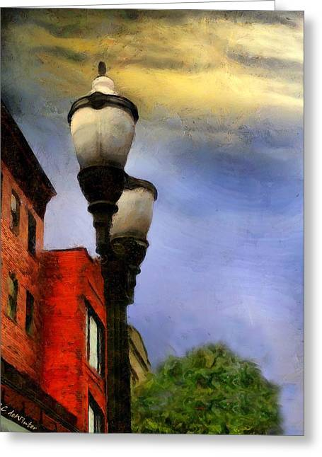 Time To Light The Lamps Greeting Card by RC deWinter