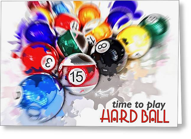 Time To Play Hard Ball White Greeting Card