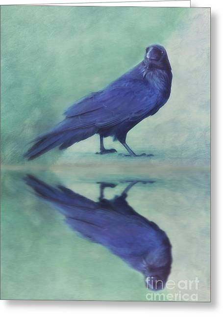 Time To Reflect Greeting Card by Priska Wettstein