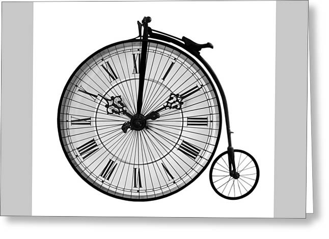 Time To Ride Penny Farthing Greeting Card