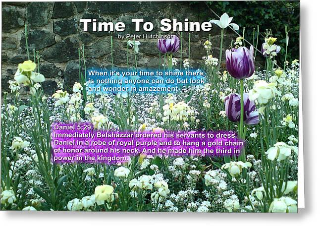Time To Shine Greeting Card