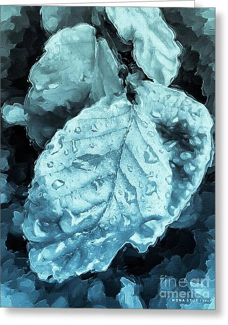 Time Travel Winter Leaves Greeting Card by Mona Stut