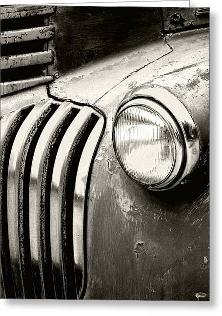 Headlight Greeting Cards - Time Traveler Greeting Card by Holly Kempe