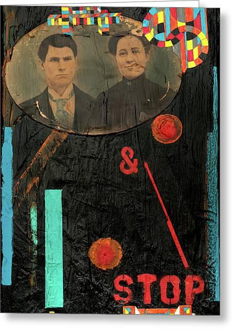 Time Travellers Greeting Card by Joan Raspo
