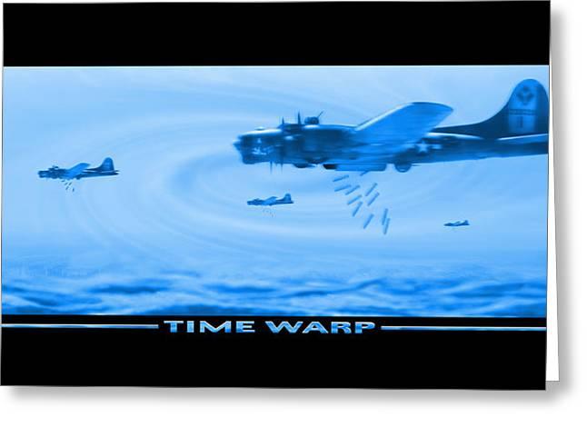 Machine Gun Greeting Cards - Time Warp Greeting Card by Mike McGlothlen
